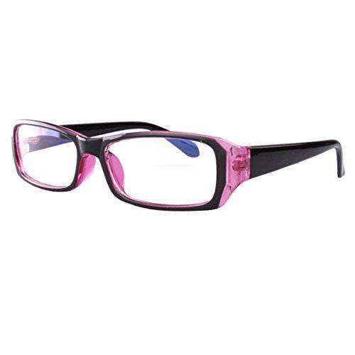 Milya Unisex Transparente Anti-UV-Anti-Müdigkeit Brille Blendschutz Brillen Sicherheitsbrille für Computer Telefon Tablets Lila Schwarz
