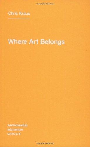 Where Art Belongs (Semiotext(e)/Intervention Series)