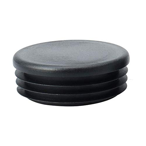 c Round Tube Insert Ribbed Cover Cap Black Floor Furniture Couch Protector, 2.2