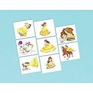 Disney Princess Schöne und das Beast 8 Stück Tattoos - (Supplies Party Belle)