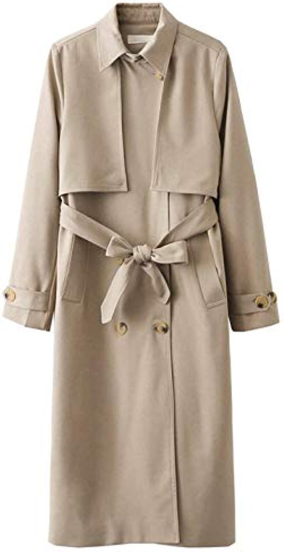 Giubotto Donna Donna Giubotto Eleganti Lunga Fashion Classiche Primaverile  Autunno Mode di Marca Trench Baggy Casuali Manica... 000795 03ff89b36413