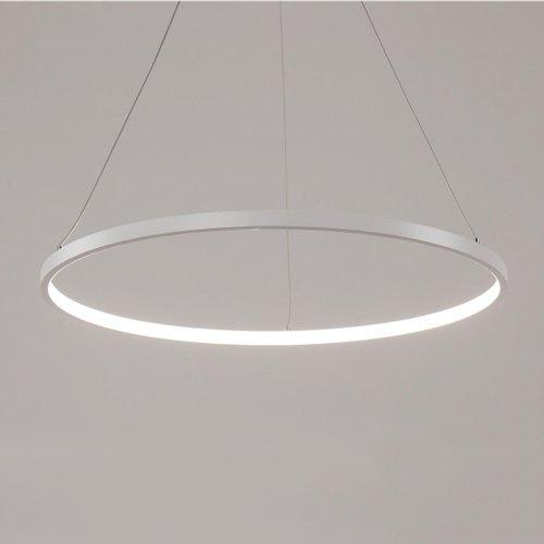Modeen Luxus moderne Acryl LED Pendelleuchte mit runden 1 2 3 Ringe, Deckenleuchte, natürliche weiße (Size : Diameter 80cm) (Acryl-pendelleuchte)