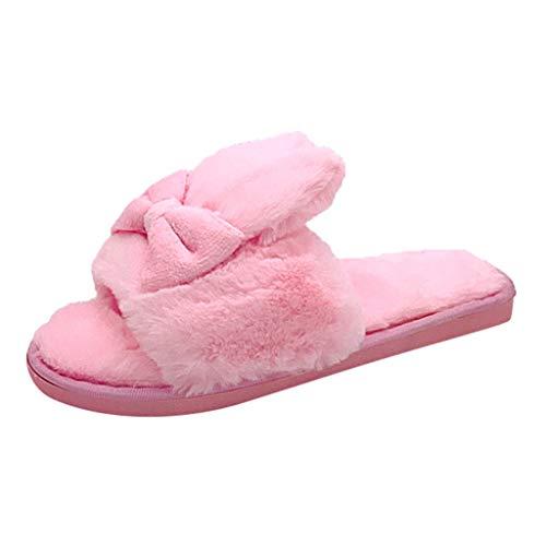 KERULA Sandali Donna, Unisex Adulto Home Indoor New Warm Slippers Pantofole Piatte in Cotone Bow Open Toe Trekking Infradito può Essere Usato Spiaggia e Piscina Esterno
