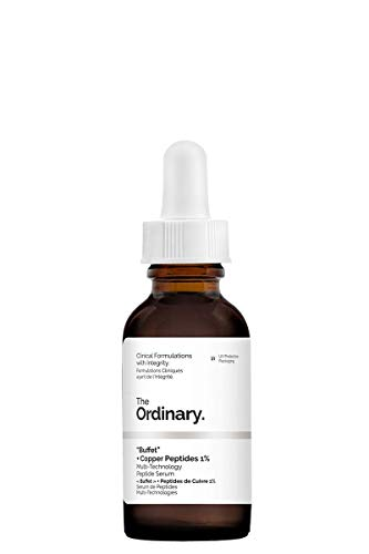 """The Ordinary\""""Buffet\"""" + Copper Peptides 1{02c1d5b9677d8cacabf8ee90dcbb0ed24b056bca705becdd4647462e54632a89} - 30ml, multi-technology peptide serum to target multiple signs of aging at once."""