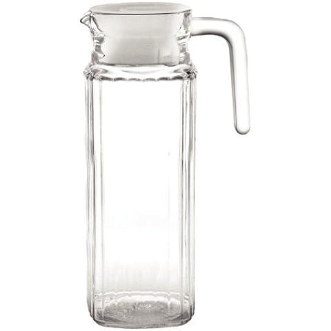 Olympia gf922Caraffa in vetro a coste, 1l (Confezione da 6)