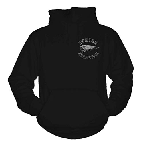 Bikes and Military Indian Hoodie 3, Schwarz, 3XL -