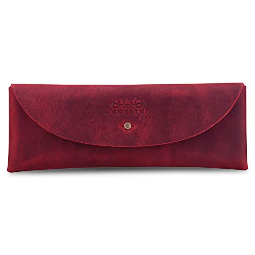 Otto Angelino Snap Cover Retro Pen and Pencil Case (Rot) Rot Cover Case Snap