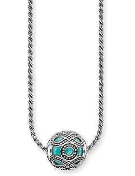 Thomas Sabo Damen-Kette Karma Beads mit Bead 925 Sterling Silber Länge 45 cm SET0364-878-17-L45v