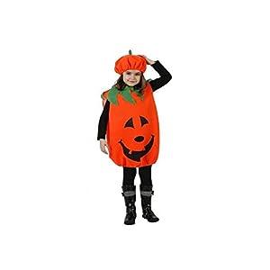Atosa-98322 Halloween Disfraz Calabaza 7-9, Color naranja, 7 A 9 Años (98322