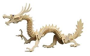 Siva Toys Siva Toys857/6 - Figura Decorativa (Madera), diseño de dragón Chino