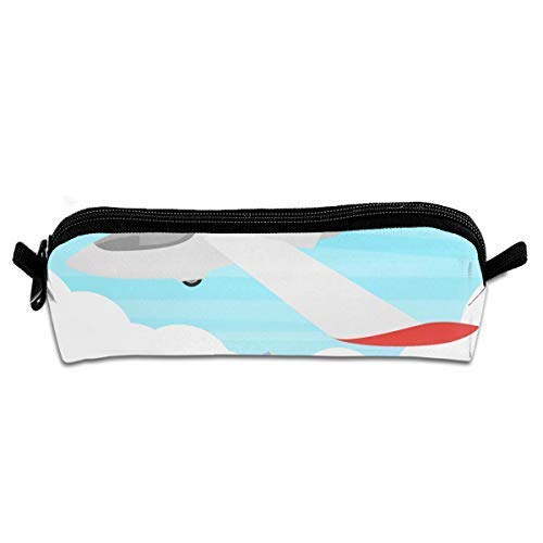 Glider On A Blue Sky Illustration Makeup Case Travel Cosmetic Brush Accessories Zipper