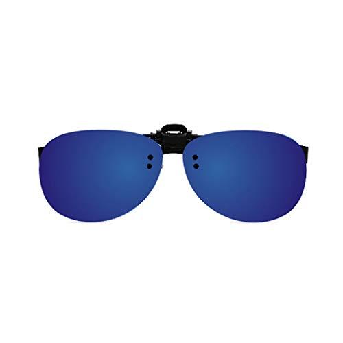 Das polarisierte Licht Sonnenbrille Clips Frosch Spiegel männliche Brille weibliche reflektierende Myopie Sonnenbrille Clip Spiegel Hipster Fahrer Spiegel (Farbe: E)