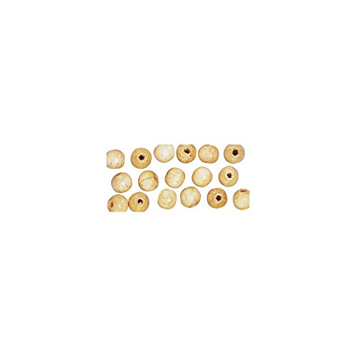 Rayher 1250531 Holz Perlen FSC 100 %, poliert, 14 mm ø, natur, SB-Btl 18 Stück