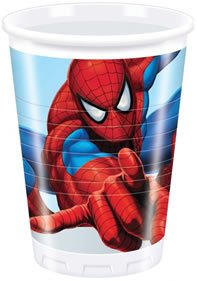 Marvel Kindergeburtstag Dekoration Spiderman Becher Plastik Becher 8er Set