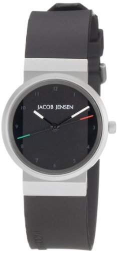 JACOB JENSEN Damen-Armbanduhr JACOB JENSEN NEW SERIES ITEM NO. 742 Analog Quarz Kautschuk JACOB JENSEN NEW SERIES ITEM NO. 742