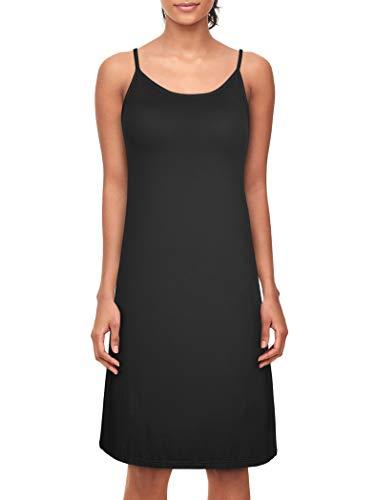 Dylh donna sottoveste con spalline regolabili sottovesti con reggiseno camicie e négligé camicia da notte donna lingerie nero 36 38 40