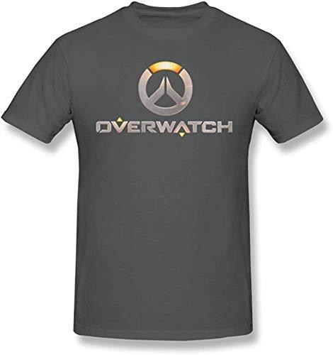 Andress Herren Generic Overwatch Logo Klassisches Komfort-Kurzarm-T-Shirt Deep Heather X-Large