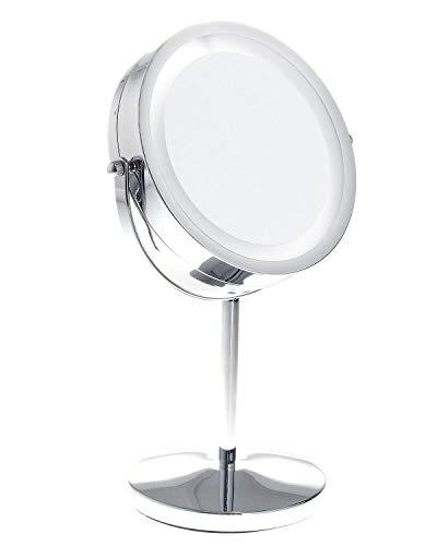 TUKA LED Espejos Maquillaje, 10x aumentos, afeitarse Espejos para baño de Mesa, Doble Cara Espejos...