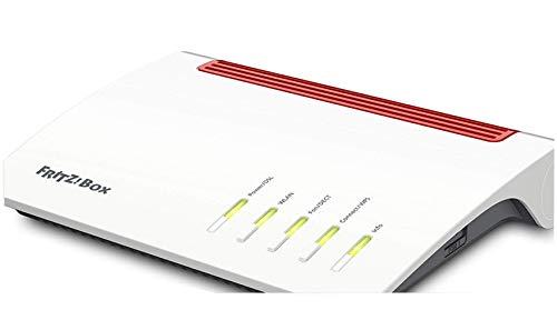 AVM FRITZ!Box 7590 High-End WLAN AC + N Router (VDSL-/ADSL, 4x4 MU-MIMO mit 1.733 (5 GHz) und 800 MBit/s (2,4 GHz), bis zu 300 MBit/s durch VDSL-Supervectoring 35b, DECT-Basis, Media Server)