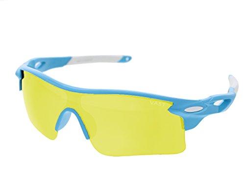 Vast Night Vision UV Protection Sports Unisex Sunglasses (9181C16 YELLOW)