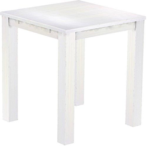 Brasil Meubles Haut 'Rio Classico' Table 120 x 120 cm, Pin Massif, Coloris Blanc