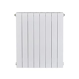 Alessia ALH 780-640 Designer Aluminium Horizontal Radiator - White