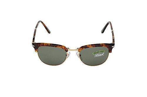 Persol Clubmaster Sonnenbrille Kaffee Havana grün polarisiert PO3132S 108/58 51 51 Green Polarised
