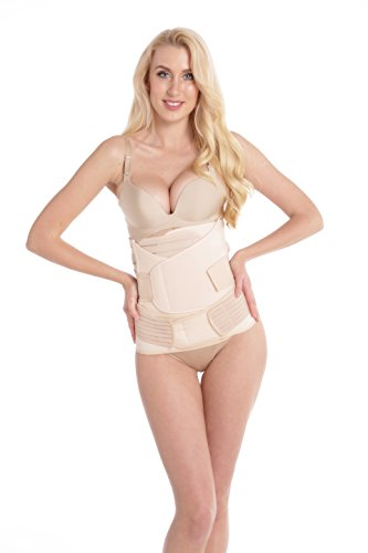 Aibrou 3 in 1 Postpartum Support Recovery Belly/Waist/Pelvis Belt Shapewear Belly Bands & Support Waist Trainer Belts