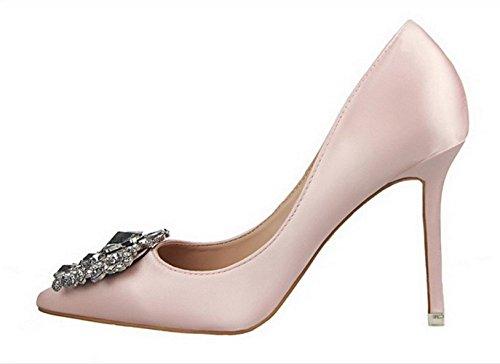 YCMDM Femmes Chaussures Nouveau Pointed Talons hauts Fine Avec Simple Chaussures Chaud Basse Chaussures De Mariage Chaussures De Mariage Pink