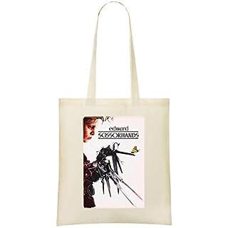 Edward mit den Scherenhänden - Edward Scissorhands Custom Printed Grocery Tote Bag - 100% Soft Cotton - Eco-Friendly & Stylish Handbag For Everyday Use - Custom Shoulder Bags
