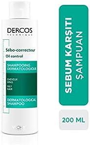 Vichy Dercos Shampoo Trattante Sebo-Regolatore Per Capelli Grassi - 200 ml