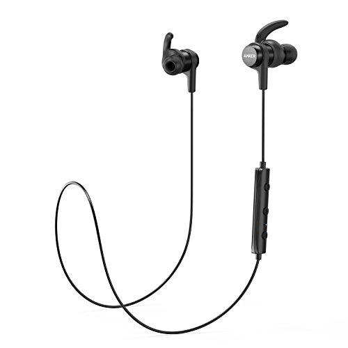 Anker Bluetooth Kopfhörer SoundBuds Flow in Ear magnetisches Headset, mit Wasserschutzklasse IPX5/7-Stunden-Spielzeit/Mikrofon, federleicht für iPhone, iPad, Samsung, Nexus, HTC und mehr (Mp3-player-wasser)