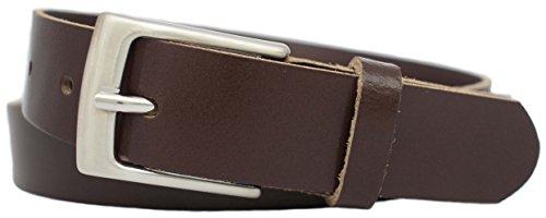 Anzuggürtel braun aus einem Stück Leder - Business Gürtel braun - Herren Gürtel - Leder Gürtel braun - Anzug Gürtel braun - Herrengürtel - Businessgürtel - Längen: 80 bis 125cm-Art.-Nr.:225