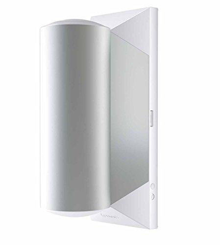 Osram LED Wandleuchte, Noxlite, weiß, Außenleuchte, zweiflammig, Bewegungsmelder, Dämmerungssensor, 9 Watt, Warmweiß- 3000K 4052899934337 -