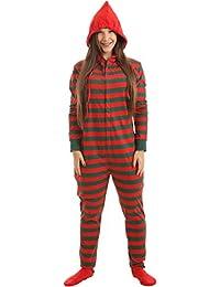 Funzee Pijama de Una Pieza Adulto Onesie Pijama Pijamas Entero con pies y con Capucha –