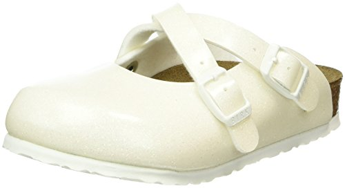 Birkenstock Dorian Birko-Flor, Zoccoli Bambina Bianco (Elfenbein (Magic Galaxy White))
