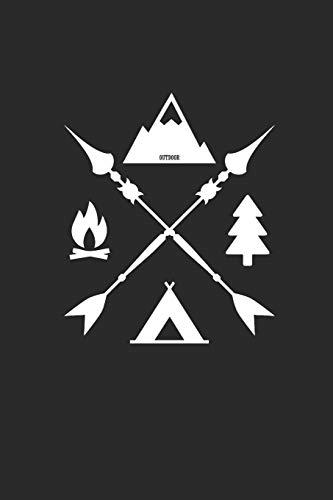 OUTDOOR: Camping Notebook squared Camper Notizbuch Journal 6x9 kariert