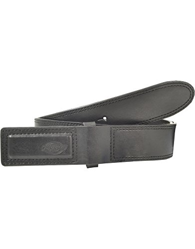 Dickies Men's Leather Covered Buckle Mechanics and Movers Belt, Black