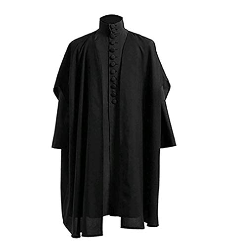 Asian Männer Kostüm - qingning Professor Severus Snape Umhang Robe Cosplay Anzug Halloween Kostüm Suit
