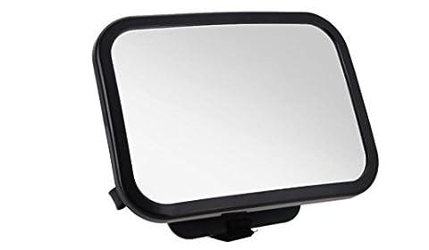 fsosoo Baby Auto Spiegel klares Sicher einfach Sicher installieren Rückseite Sitz Rear View Fixierbänder Saugnapf View (Adjustable Tilt Spiegel)