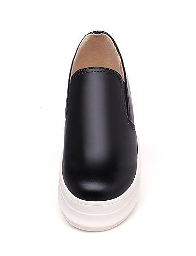 ZQ gyht Scarpe Donna-Mocassini-Casual-Punta arrotondata-Piatto-Finta pelle-Nero / Bianco , white-us10.5 / eu42 / uk8.5 / cn43 , white-us10.5 / eu42 / uk8.5 / cn43 black-us5.5 / eu36 / uk3.5 / cn35