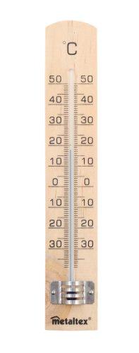 Metaltex 298005 Thermomètre intérieur Marron 3 x 18 x 0.8 cm