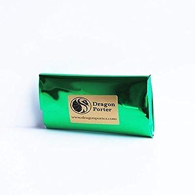 Romantique Collier avec Pendentif Papillon de couleur Rose et Verte Claire; Cadeau Humour pour Fille; Longueur 50cm, Design Diamètre 3.5cm