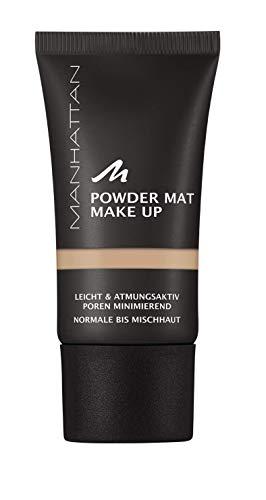 Manhattan Powder Mat Make-up, Mattierendes Puder und Foundation in einem, Farbe Warm Sand 83, 30 ml
