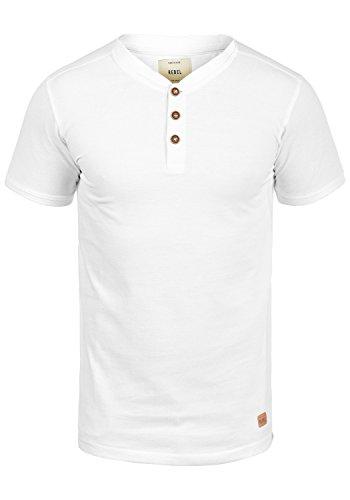 Redefined Rebel Mulligan Herren T-Shirt Kurzarm Shirt Mit Grandad-Ausschnitt Aus 100{be0c18511aee2aba3987ced445e52a8f4a9ae9fac723646ba3546ba151893b0e} Baumwolle, Größe:XL, Farbe:White