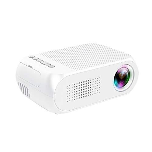 Altsommer Projektor Mini 3D Heimkino Theater YG320 1080P HD LED Projektor mit Lautsprecher Heimgebrauch, 50000 Stunden Heimkino Beamer Full Unterstützt, HDMI VGA USB AV TF für Smartphone Laptop, Weiß - Dvd-filmen Lebensdauer Von