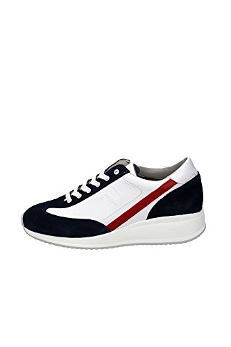 Trussardi Jeans 77S073 Sneakers Homme Cuir Blu/Bianco