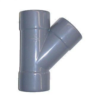 culotte simple pvc - femelle / femelle - 67 degrés30 - diamètre 125 mm - nicoll bx166