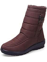 Mujeres Invierno Botas Madre Zapatos Antideslizante Impermeable Mujeres Flexibles Moda Ocasional Nieve Botas