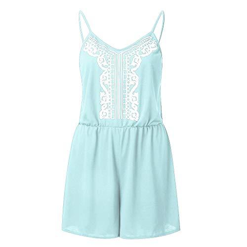 Bellelove Damen Camisole Playsuit Woman Summer Shorts Schicker Jumpsuit Ärmelloser Strampler Bohemian Printed Floral Casual Beach Jumpsuit -
